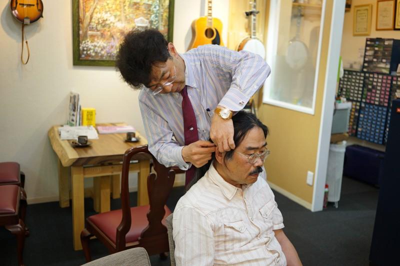 長野たかしさんの補聴器調整
